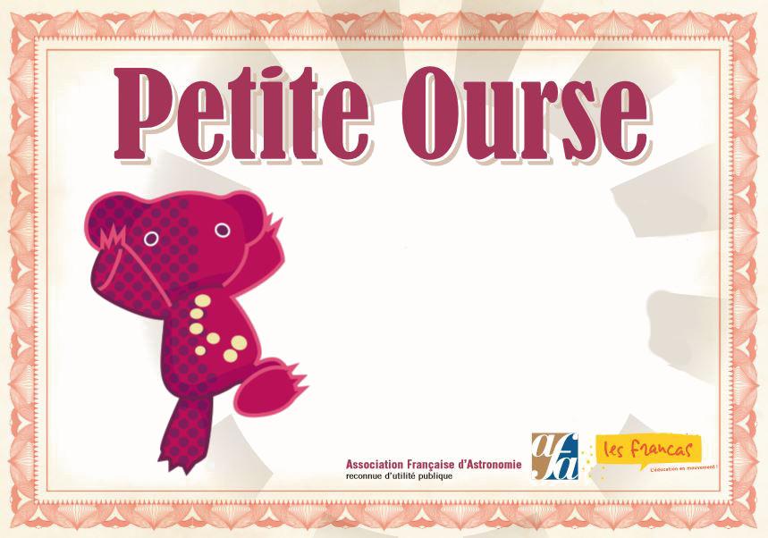 2 Stages «Petite Ourse» cet Eté !