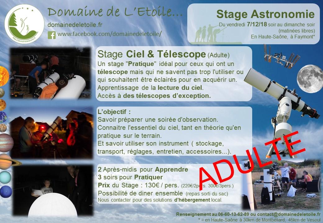 Premier Stage Astronomie Adulte