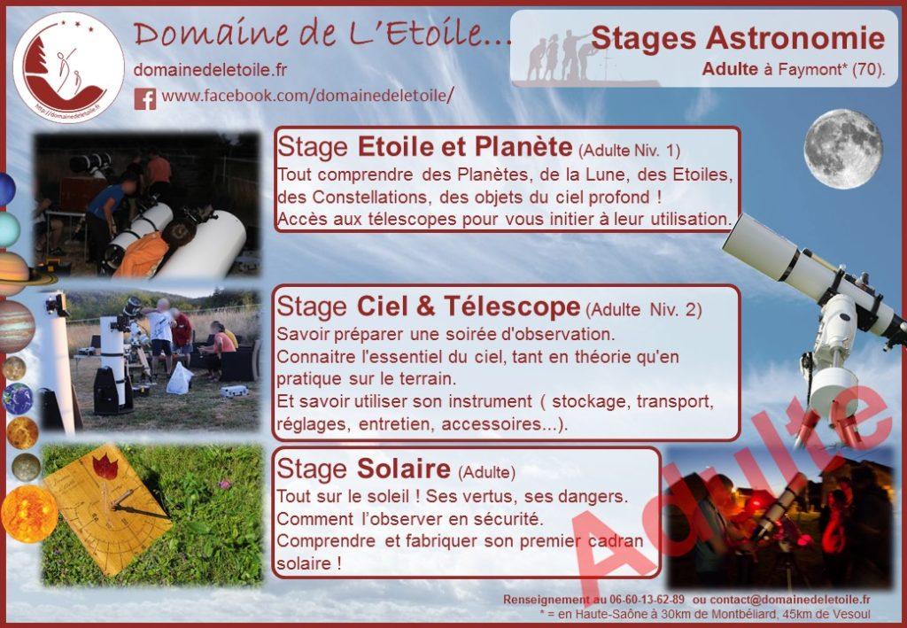 Stages Astronomie pour adulte
