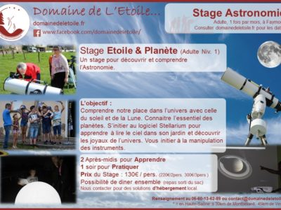 Message aux Stagiaires Etoile & Planète (Adulte Niv.1) du WE !