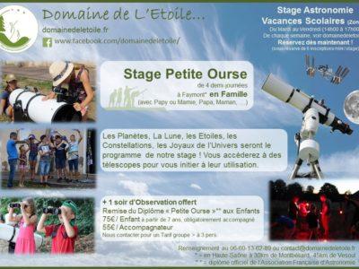 Stage Astronomie pendant les Vacances !