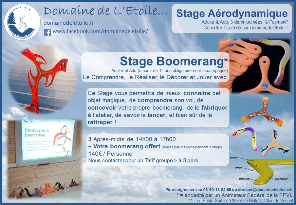 Affiche stage boomerang