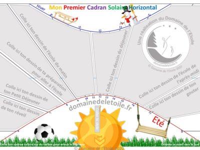 Un cadran solaire horizontal pour vos enfants !